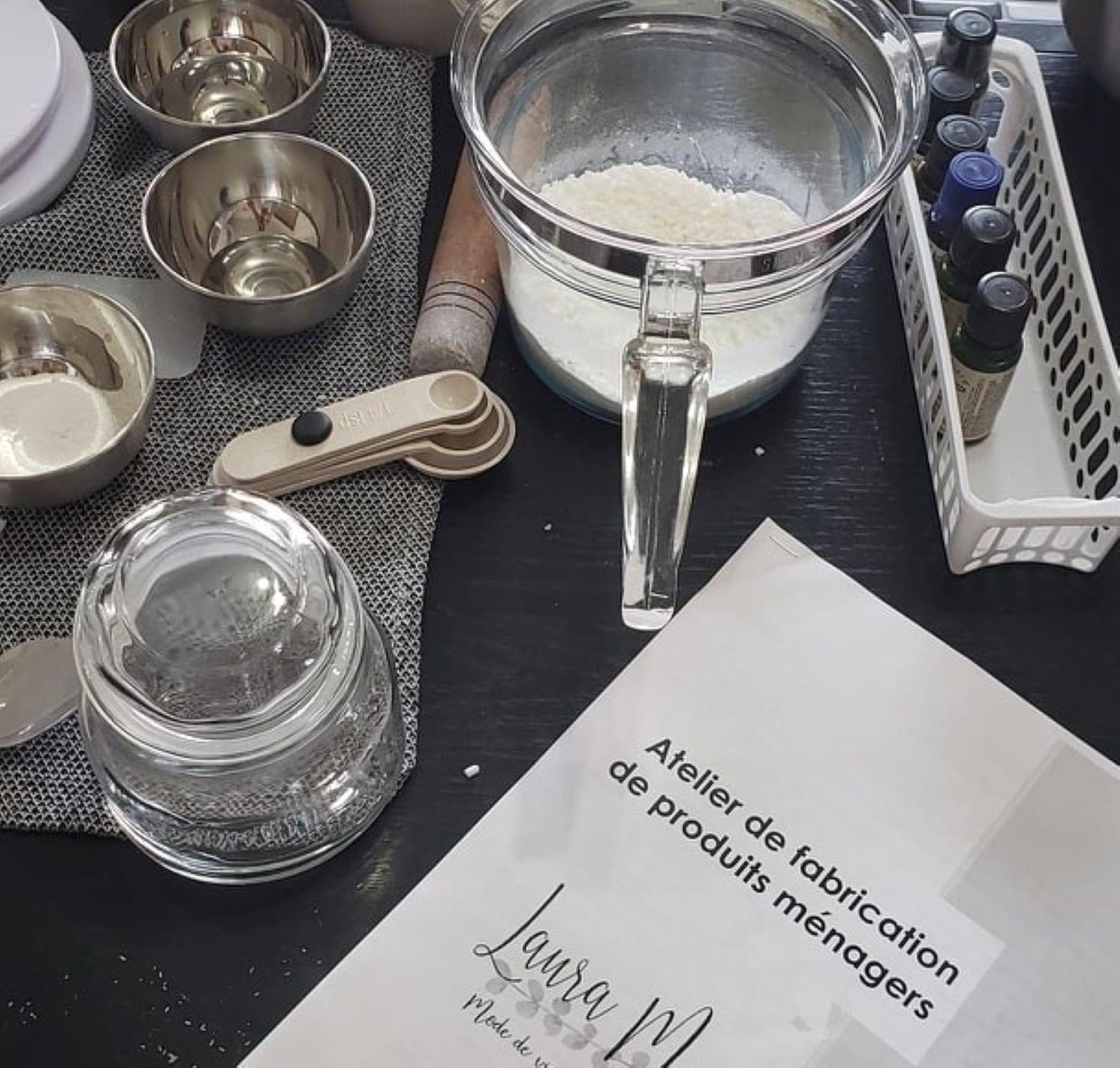 Atelier de fabrication de produits ménagers et corporels