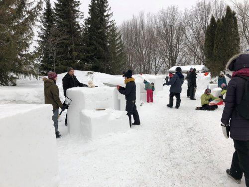 Sculptures sur neige à la Fête d'hiver