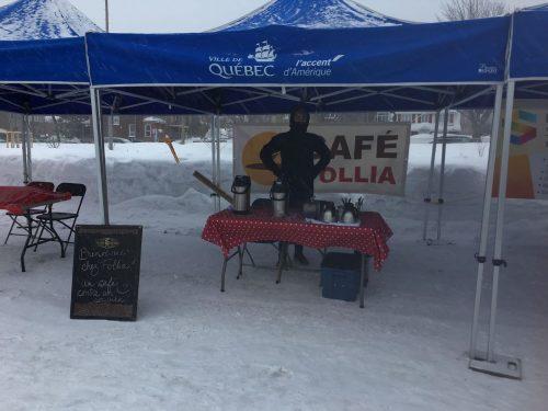 Kiosque du Café Follia à la Fête d'hiver