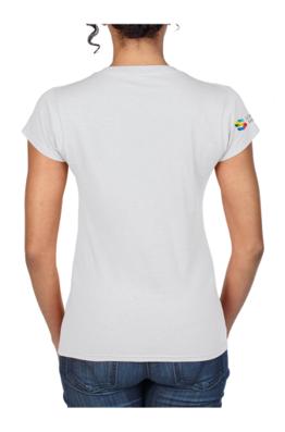 dos du t-shirt à poche pour femme