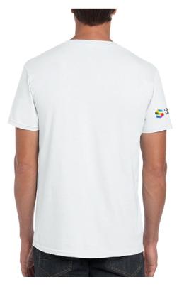 dos du t-shirt à poche pour homme