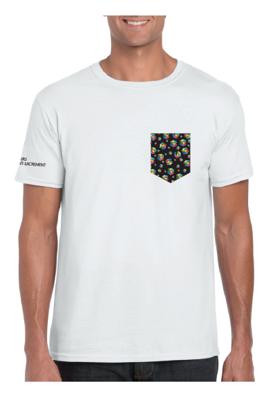 devant du t-shirt à poche pour homme